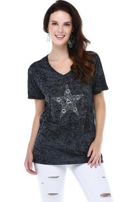Tena Tsh.2200 On Yıldız Taşlı T-Shirt