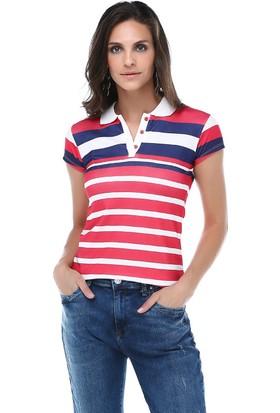 Tena Tsh.7759 Çizgili Yakalı Tshirt
