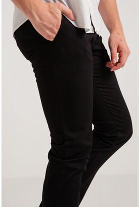 Avva Red Siyah Armürlü Kanvas Pantolon