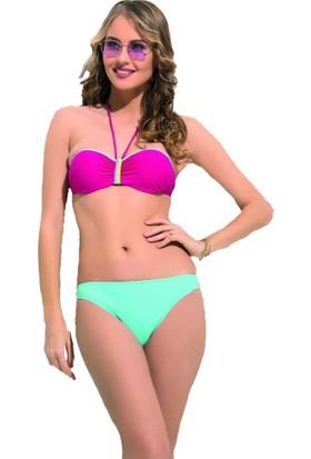 Nbb Boyunda Bağı Dolgulu Straplez Bikini Takım 50892