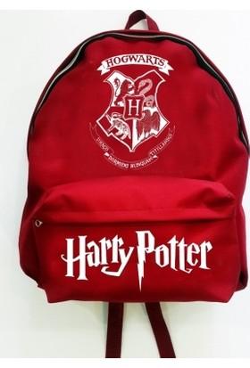 Yer6Store Harry Potter - Hogwarts Bordo Sırt Çantası
