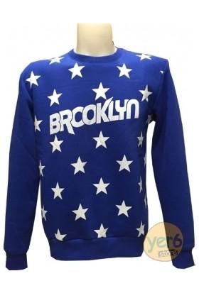 Yer6Store Brooklyn Mavi Star Sweatshirt