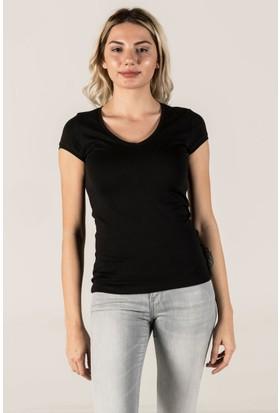 Vena V Yaka Lady Kısa Kol T-Shirt