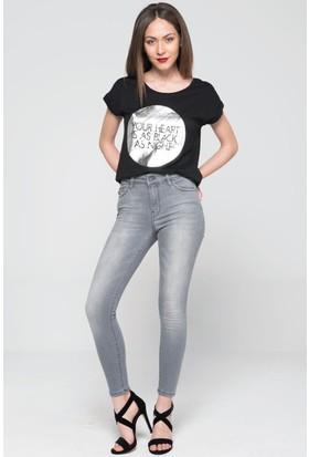 Vena Gabriella Grey Denim Pantolon