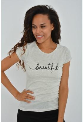 Rodinhills Kadın Tas Beautiful Baskılı Tshirt
