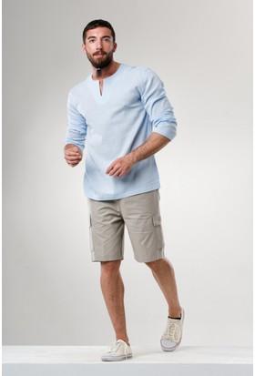 Eliş Şile Bezi Uk Bisiklet Yaka T-Shirt