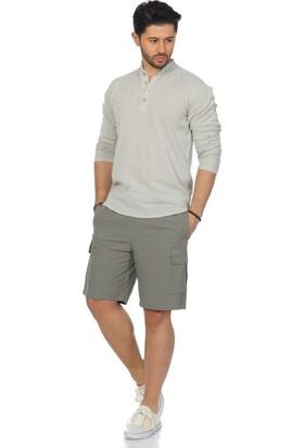 Eliş Şile Bezi Uzun Kol Bodrum T-Shirt