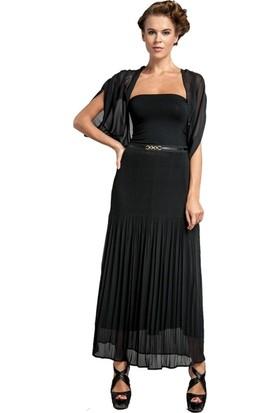 Dodona 1242 Astarlı Siyah Uzun Etek