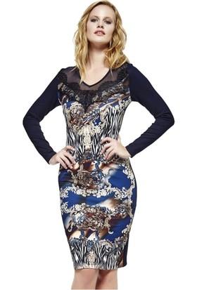 Dodona 2736 Tasarım Güpürlü Şık Elbise