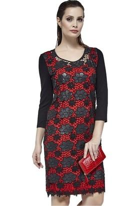 Dodona 2706 Çiçekli Zircon Taşlı Gece Elbisesi