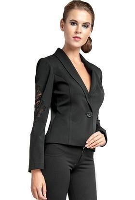Dodona 1259 Tasarım Güpürlü Kısa Ceket