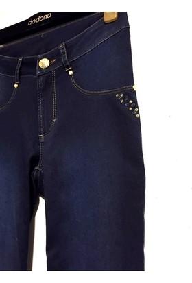 76b4b4504751f ... Dodona 2514 Zircon Taşlı Lacivert Kot Pantolon ...