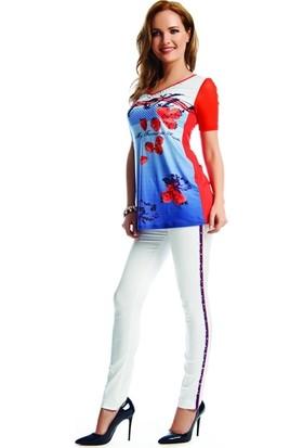 Dodona 1830 Swarovski Taşlı Tasarım Beyaz Pantolon