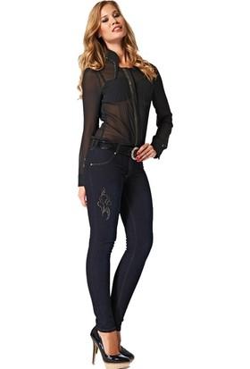 Dodona 2167 Tasarım Taşlı Kot Pantolon