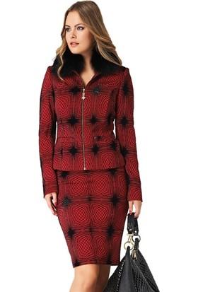 Dodona 2047 Tasarım Kırmızı Bayan Etek