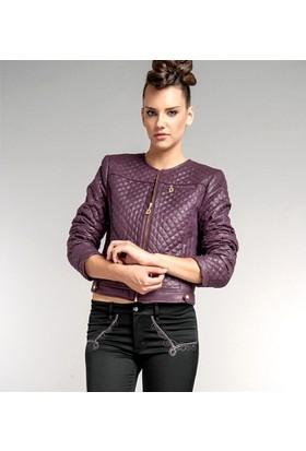 Dodona 1331 Tasarım Deri Görünümlü Ceket