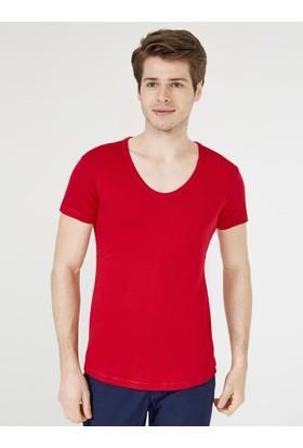 Xint Mcl Derin V Yaka Basic T-Shirt