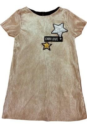 By Leyal For Kids Yıldız Detaylı Elbise-1869