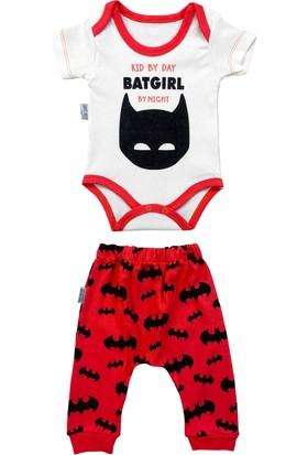 By Leyal For Kids Batgirl Detaylı 3'Lü Takım