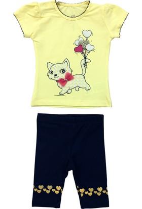 By Leyal For Kids Kedi Detaylı Taytlı Takım 5230