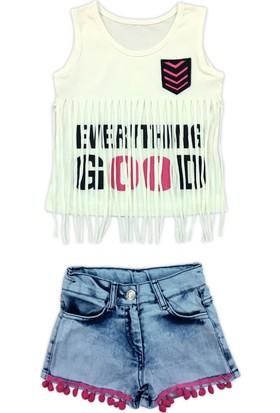 By Leyal For Kids Everthing Good Detaylı T-Shirt Ve Şort Takım 1149