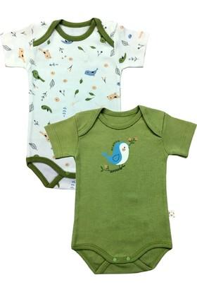 By Leyal For Kids Kuş Detaylı 2'Li Body Set