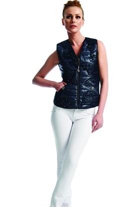 Dodona 1048 Swarovski Taşlı Beyaz Pantolon Kadın