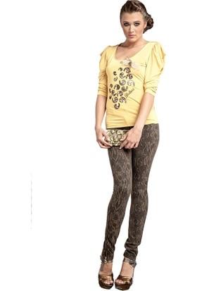 Dodona 1300 Yılan Derisi Desenli Tasarım Pantolon Kadın