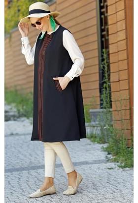 Abacı Kadın Siyah Poiviskon Tunik 11640-O52-44
