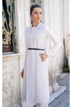 Abacı Kadın Gri Yelek Pantolon Takım 11696-R65-48