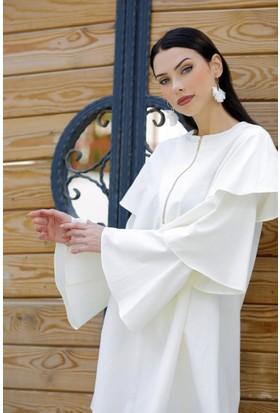 Abacı Kadın Beyaz Tunik 11739-R52-44