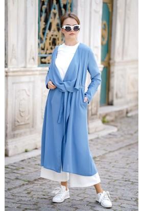 Abacı Kadın Mavi Şifon Yelek 11747-G16-44