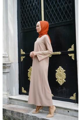 Abacı Kadın Bej Mevsimlik Elbise 11792-R18-40