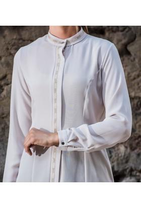 Abacı Kadın Krem Şifon Bluz 11799-G18-46