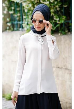 Abacı Kadın Taş Şifon Bluz 11844-G18-44