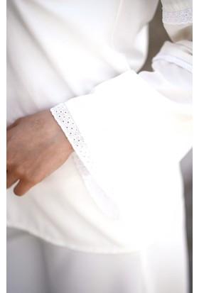 Abacı Kadın Kırık Beyaz Gömlek 11865-R52-44