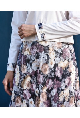 Abacı Kadın Çiçek Desenli Takım 11932-S85-44