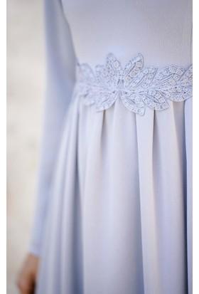 Abacı Kadın Buz Gri Mevsimlik Elbise 11982-S25-40