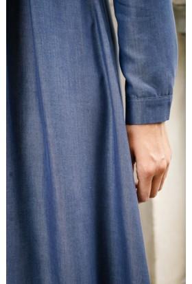 Abacı Kadın Lacivert Astarsız Elbise 12039-H31-44