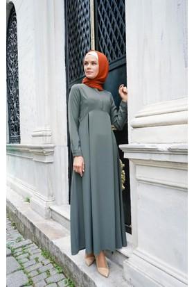 Abacı Kadın Haki Astarsız Elbise 12039-S57-42