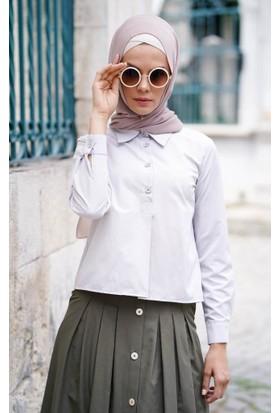 Abacı Kadın Gri Gömlek 12041-R48-44