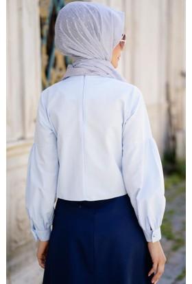 Abacı Kadın Buz Mavisi Bluz 12094-R53-40