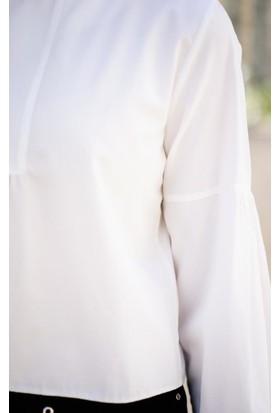 Abacı Kadın Ekru Bluz 12094-S48-40