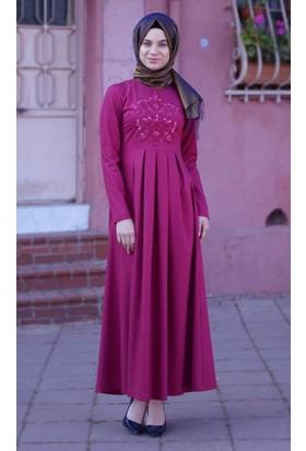 Abacı Kadın Fuşya Elbise 16El1011-44