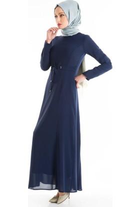 Abacı Kadın Saks Mavisi Elbise 16El9828-F03-42