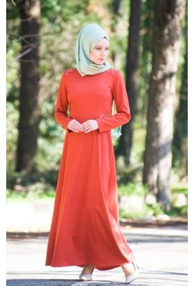 Abacı Kadın Mevsimlik Turuncu Elbise 16El9878-G05-44