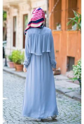 Abacı Kadın Buz Mavisi Elbise 17El10323-G19-38