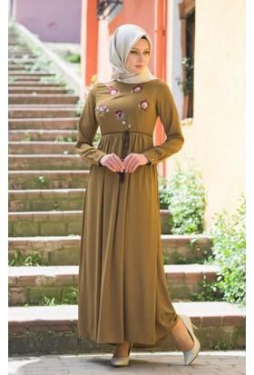 Abacı Kadın Mevsimlik Yeşil Elbise - 17El10367-H51-44
