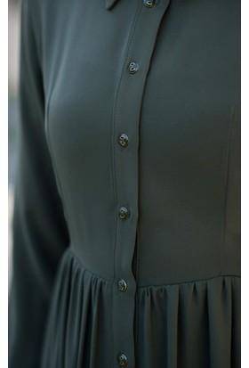 Abacı Kadın Haki Mevsimlik Elbise 17El9894-F01-42