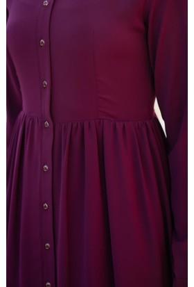 Abacı Kadın Bordo Mevsimlik Elbise 17El9894-F04-42